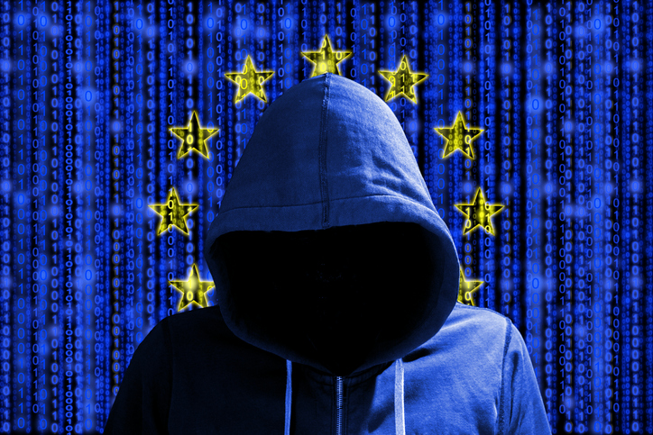 EU Flag anf Hacker