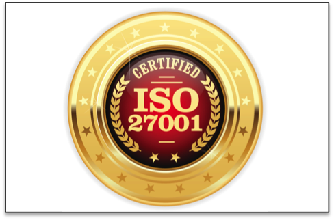 ISO 27001 certified medal
